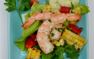 Key West Shrimp & Grilled Corn salad August 2012 008