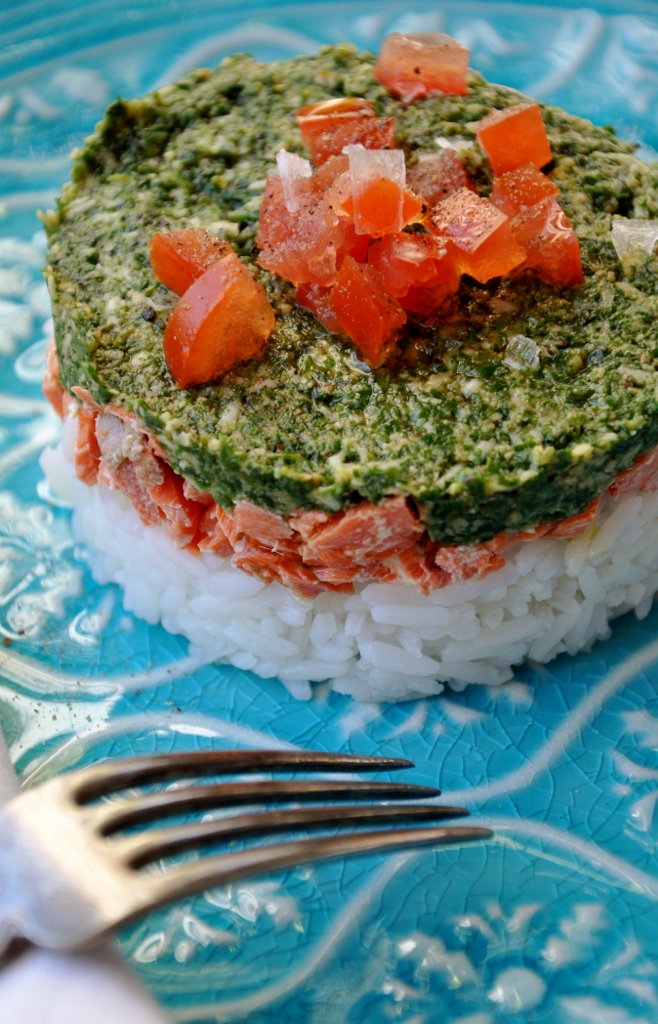 Arugula cilantro pesto, pizza and salmon Jan 2013 038 (658x1024)