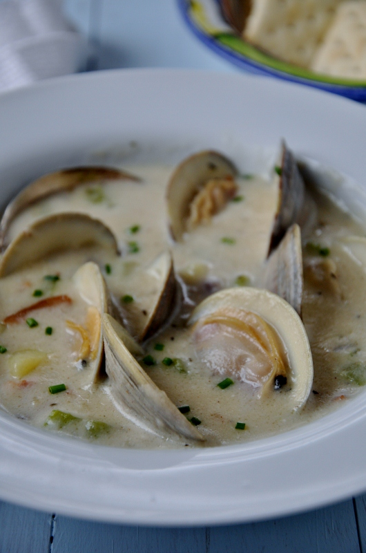 New England Clam Chowder http://maureencberry.com