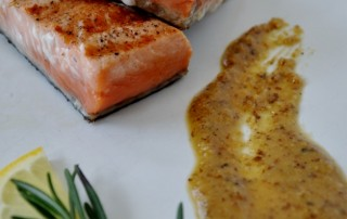 Copper River Salmon with Walnut-Rosemary Puree http://seafoodladyorlando.com