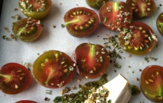 Slow Roasted Black Cherry Tomatoes