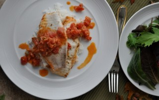 Tilapia with Tomatoes and Fennel