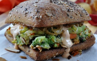 Almond-crusted Broccoli Burger MCB