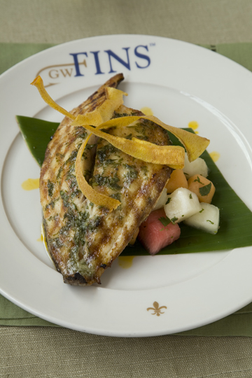 GW Fins American Red Snapper with Melon and Mango Salsa