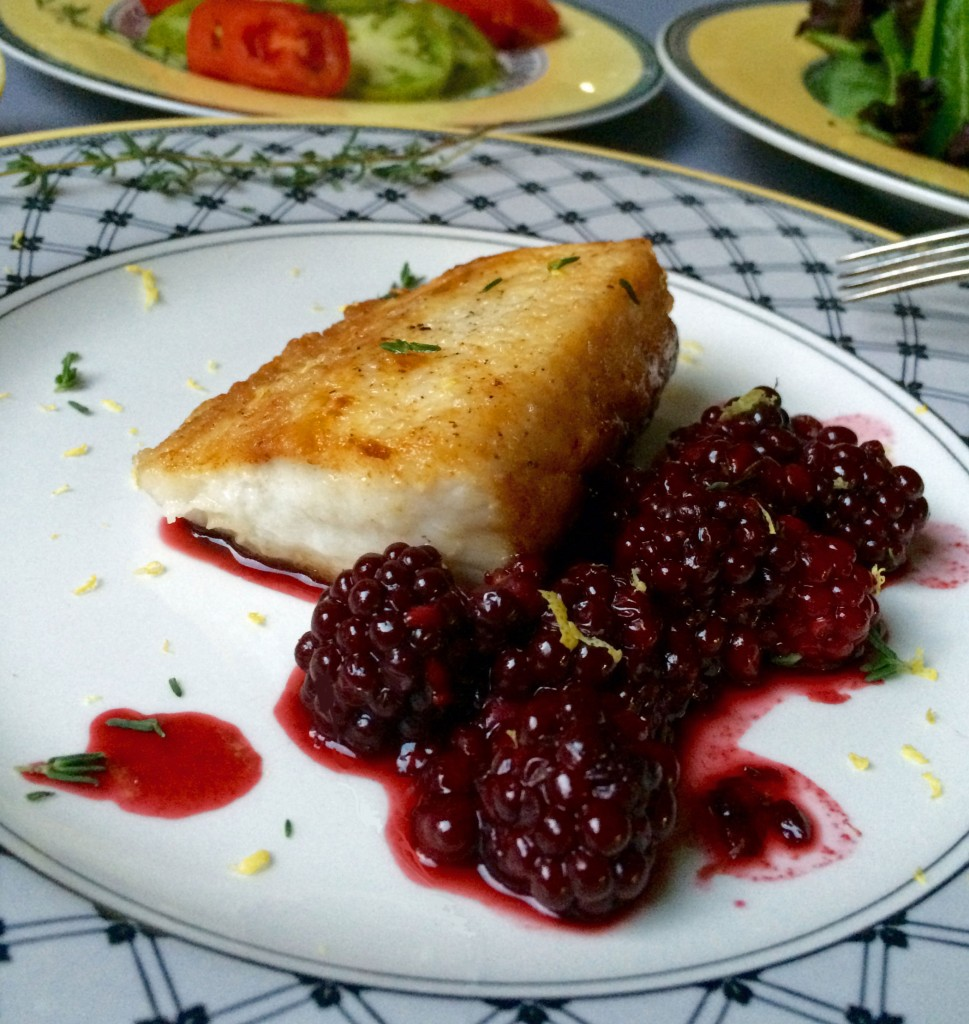 Cobia with blackberry pan sauce recipe for Cobia fish recipes