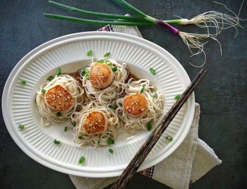 Honey-Sesame Scallops