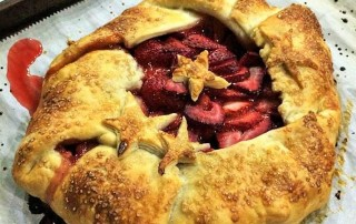 Strawberry galette mcb