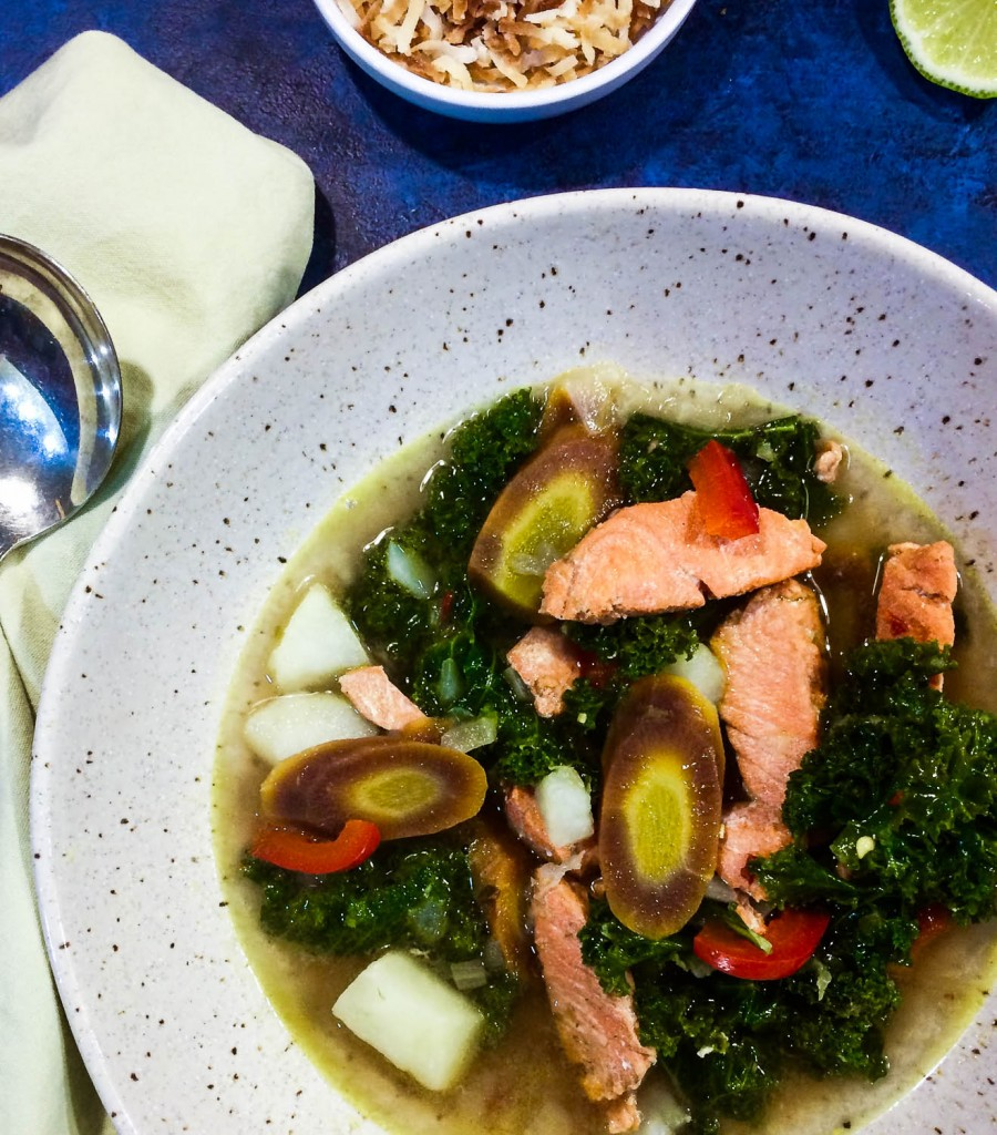 Salmon Kale Curry Soup Recipe