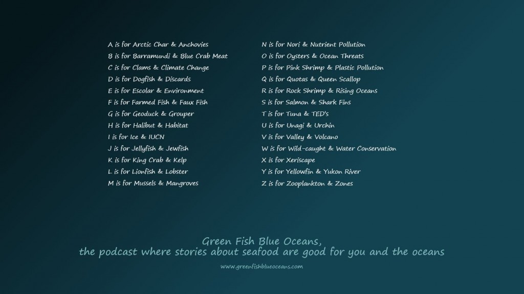 green fish blue oceans show listing A-Z