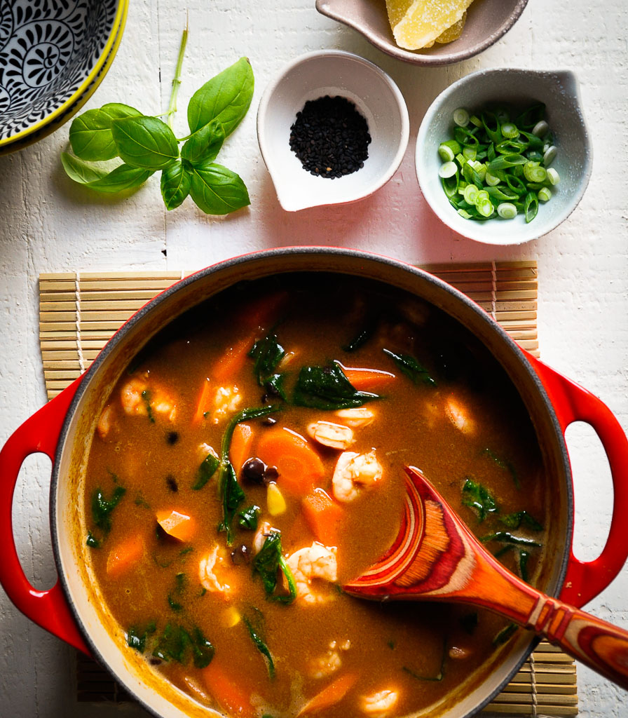 Thai Shrimp and Black Bean Soup Recipe