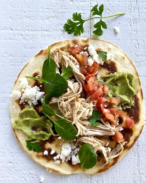 Slow-cooked Spiced Chicken and Green Chiles Tacos